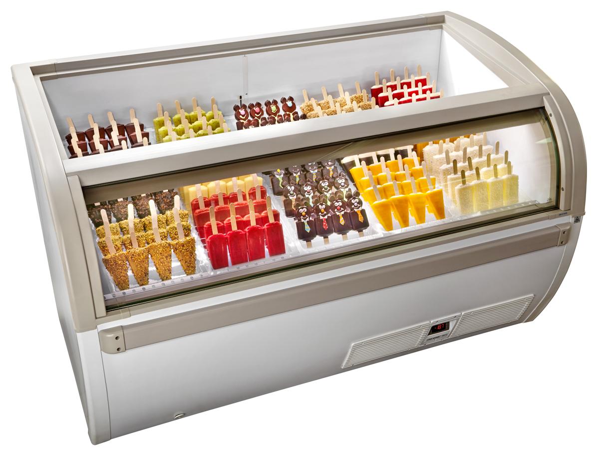 vetrina per gelato