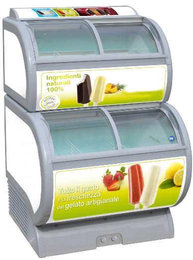 congelatore a pozzetto per gelati