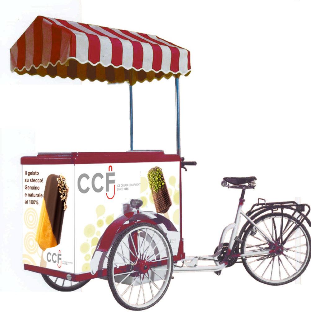carretto gelati con bicicletta