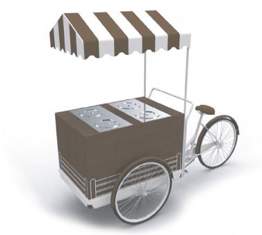 cargo bike per gelato mantecato